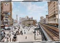 Midday Stroll in New York City  - Colorized