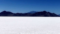 Midday the Bonneville Salt Flats