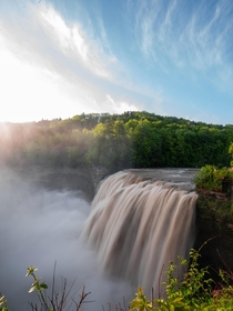 Middle Falls in Letchworth State Park New York