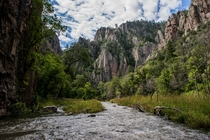 Middle Fork of The Gila River in The Gila Wilderness NM