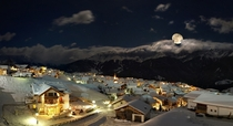 Midnight in Serfaus Austria