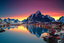 Midnight sun in Lofoten Norway  by Christian Bothner