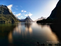 Mifold Sound  x in a deferent light Milford Sound is a fiord in the southwest of New Zealands South Island Its known for towering Mitre Peak plus rainforests and waterfalls like Stirling and Bowen falls