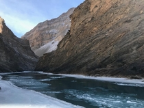Mighty zanskar river  Leh India Took the photo while doing the chadar trek in himalayan