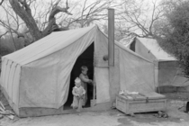 Migrant tent home in Texas