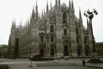 Milan Cathedral construction began in   x