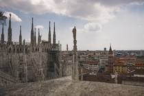 Milan Italy from the Duomo rooftops