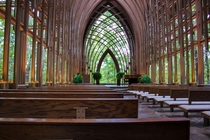 Mildred B Cooper Memorial Chapel in Bella Vista Arkansas Designed by E Fay Jones and commissioned by John A Cooper to honor his late wife