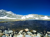 Miles High Summit Lake on Mt Evans Colorado