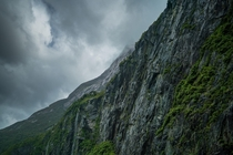 Milford Sound Fiordland National Park New Zealand after a night of rain