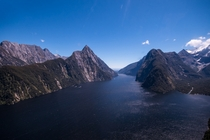 Milford Sound New Zealand from the air