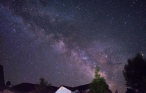 Milky Way Above Cabins at Bear Lake UT