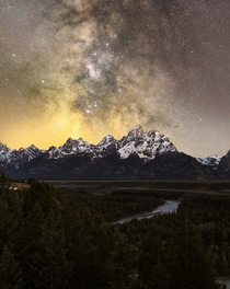 Milky Way Above the Teton Range
