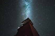 Milky Way Aligned w the Cliff Drive Fire Watchtower Keweenaw Peninsula MI