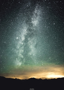 Milky Way and a Perseid meteor from Manning Park BC