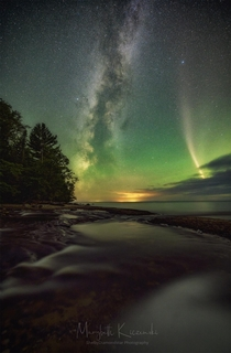 Milky Way and a STEVE - Labor Day Aurora Event  - Upper Peninsula of Michigan USA