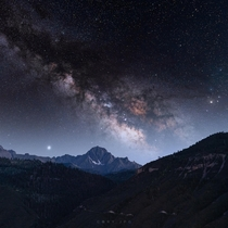 Milky Way and Bortle  dark skies over Ouray Colorado