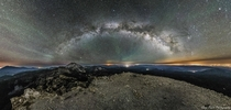Milky Way Arc over Lassen Volcanic National Park in Northern California