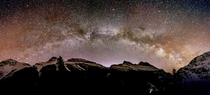 Milky Way Arch Taken from Icefield Parkway Alberta Canada