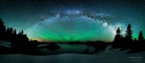Milky Way Arching over Crater Lake Oregon