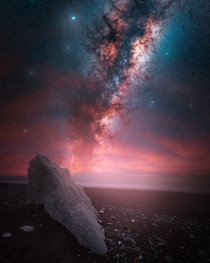 Milky Way at a beach near Christchurch New Zealand
