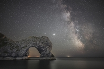 Milky Way  Durdle Door Dorset UK