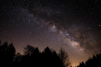 Milky Way from the Blue Ridge Parkway near Brevard NC Still learning but happy with my early progress