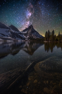 Milky Way gleaming over Ragged Peak amp Lower Young Lake