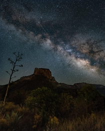 Milky Way in Chisos Basin Big Bend National Park Texas