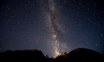 Milky way in Hunza valley Gilgit Baltistan - Pakistan