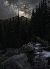 Milky Way in Mt Rainier Park