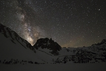 Milky Way in the Sierra Nevada Mountains
