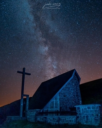 Milky way over a church at Ibaeta Navarra Took this picture on my last visit to Spain