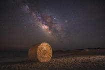 Milky Way over a field - Larnaca Cyprus