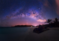 Milky Way over an Abandoned Tank on the Caribbean Island of Culebra