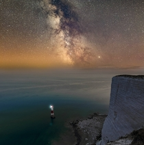 Milky way over Beachy Head