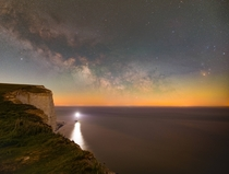 Milky Way over Beachy Head Lighthouse UK