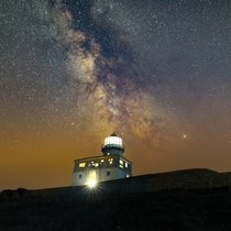 Milky way over Belle Tout Lighthouse UK