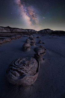 Milky Way over Bisti Badlands NM