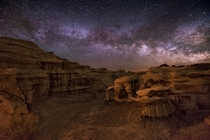 Milky Way over BistiDe-Na-Zin Wilderness New Mexico  Pic by Wayne Pinkston