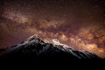 Milky Way over Broad Peak  m Karakoram  By Petr Jan Juraka