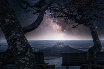 Milky Way over Castle Hohenzollern Germany
