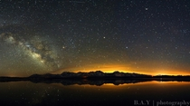 Milky Way over Eastern Sierras Alkali Lake CA
