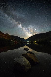 Milky Way over Echo Lake in Franconia New Hampshire