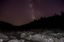 Milky Way over Johnsons Shut-ins on Black River - Missouri
