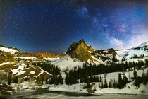 Milky Way over Lake Blanche and Sundial Peak UT