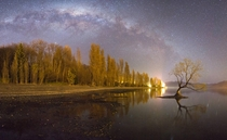 Milky Way over Lake Wanaka New Zealand