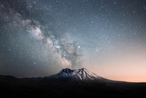 Milky Way over Mount Saint Hellens
