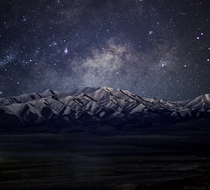 Milky Way Over Mountain at Eagle Mountain UT