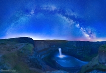 Milky Way over Palouse Falls at Palouse Falls State Park in Eastern Washington